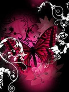 Free Dark Pink Butterfly.jpg phone wallpaper by twifranny
