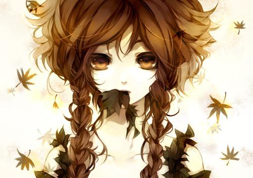 Free anime-autumn-colororange-colorsand-face-girl-Favim.com-40378.jpg phone wallpaper by fairytail123