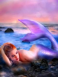 Free rainbow-mermaid.jpg phone wallpaper by twifranny