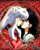 Inuyasha & Kagome Kiss