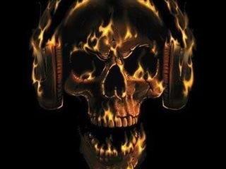 Free flamin skull phone wallpaper by starrr72