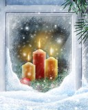 Free Christmas-warm-candllelight-snow phone wallpaper by lotr82