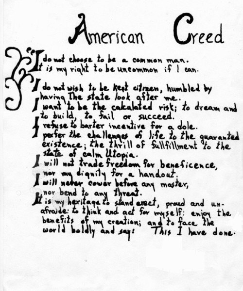 Free American Creed.jpg phone wallpaper by sillysilverbar