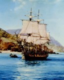 Free Montague Dawson-Pirate Cove phone wallpaper by ring_tone_master