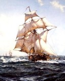 Free Montague Dawson-The Fleet Messenger phone wallpaper by ring_tone_master