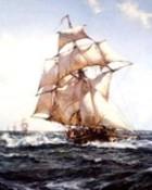 Montague Dawson-The Fleet Messenger wallpaper 1