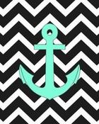 Cute Chevron Anchor wallpaper 1