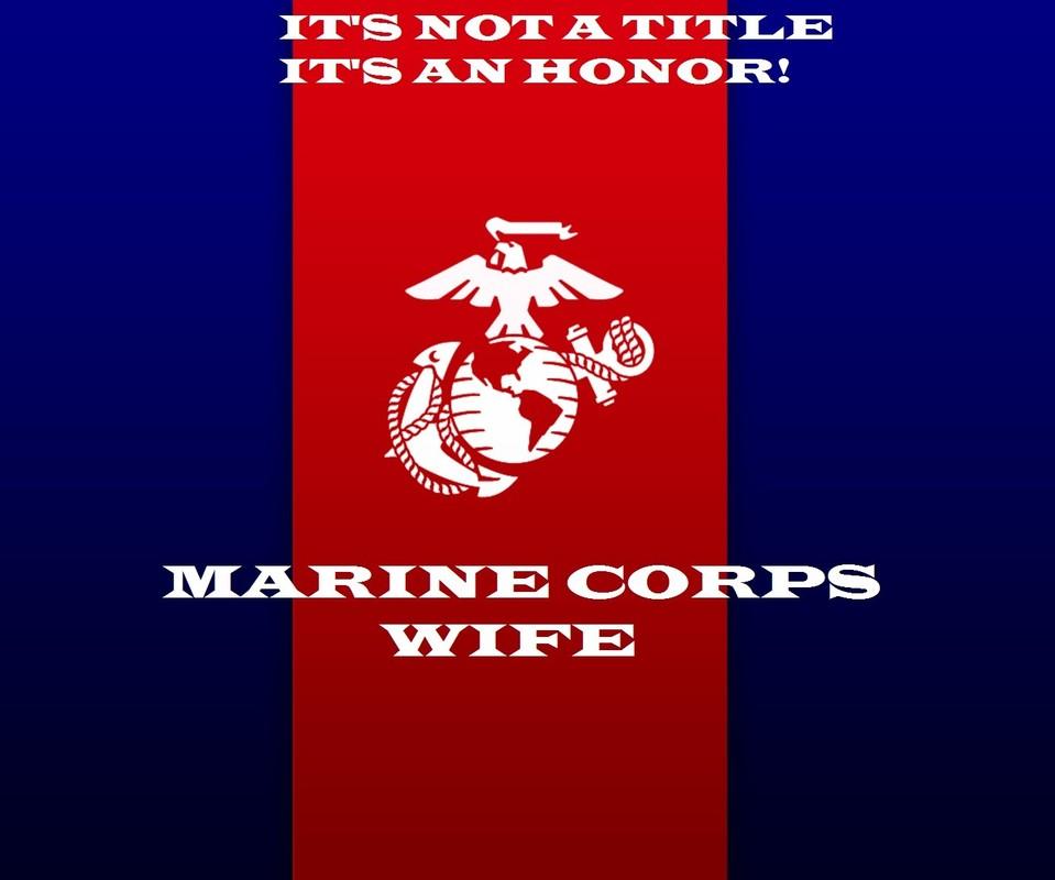 Free marine corps wife phone wallpaper by black524mamba