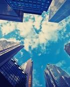 Skyscrapers Blue Sky