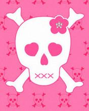 Free PINK SKULL phone wallpaper by demossmsk