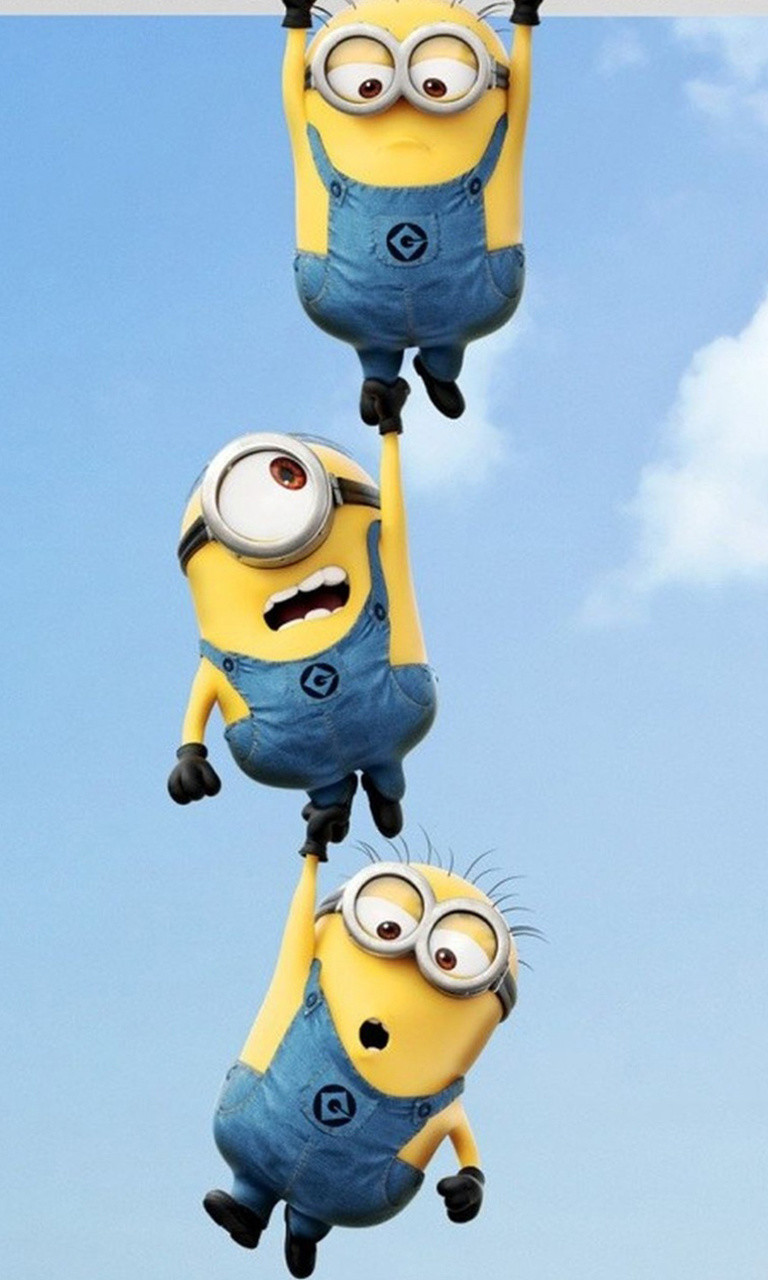 Free Hanging Minions.jpg phone wallpaper by twifranny