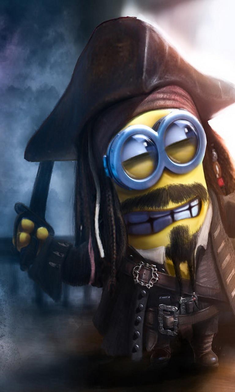 Free Jack Sparrow minion.jpg phone wallpaper by twifranny