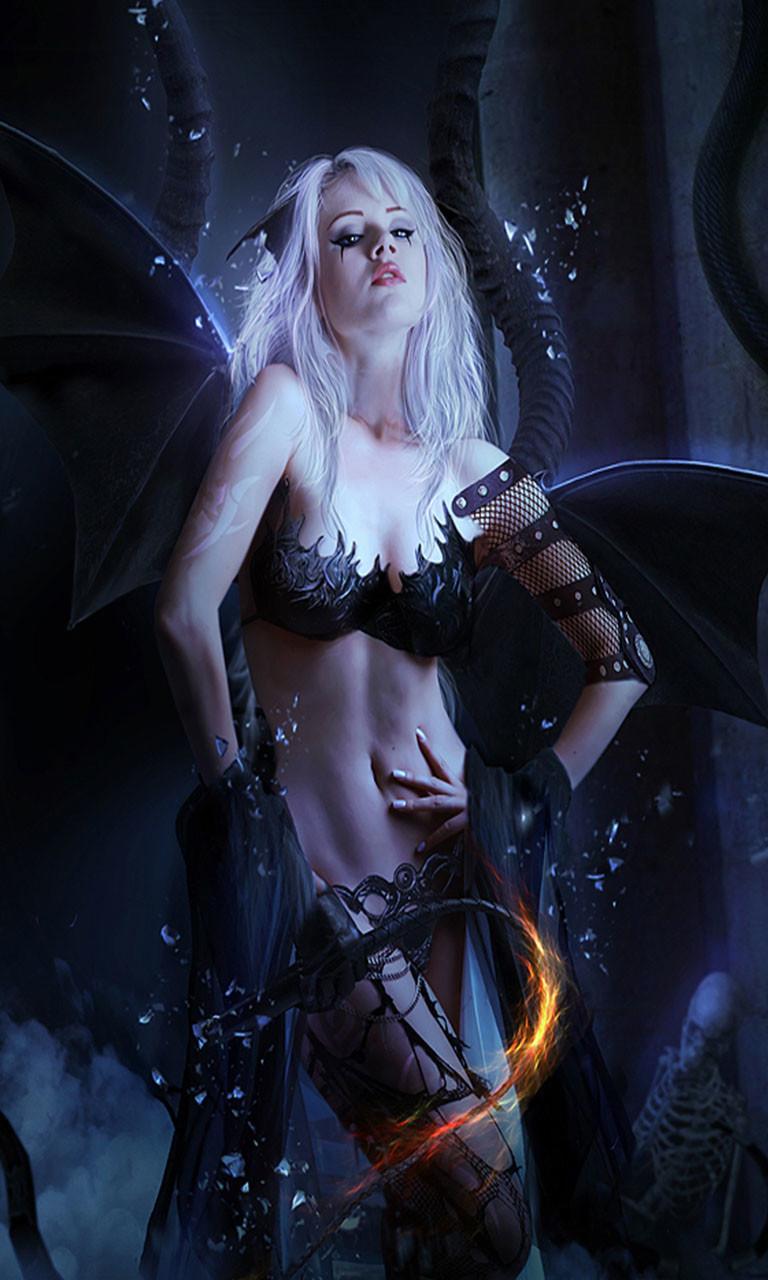 Free Gothic Girl.jpg phone wallpaper by twifranny
