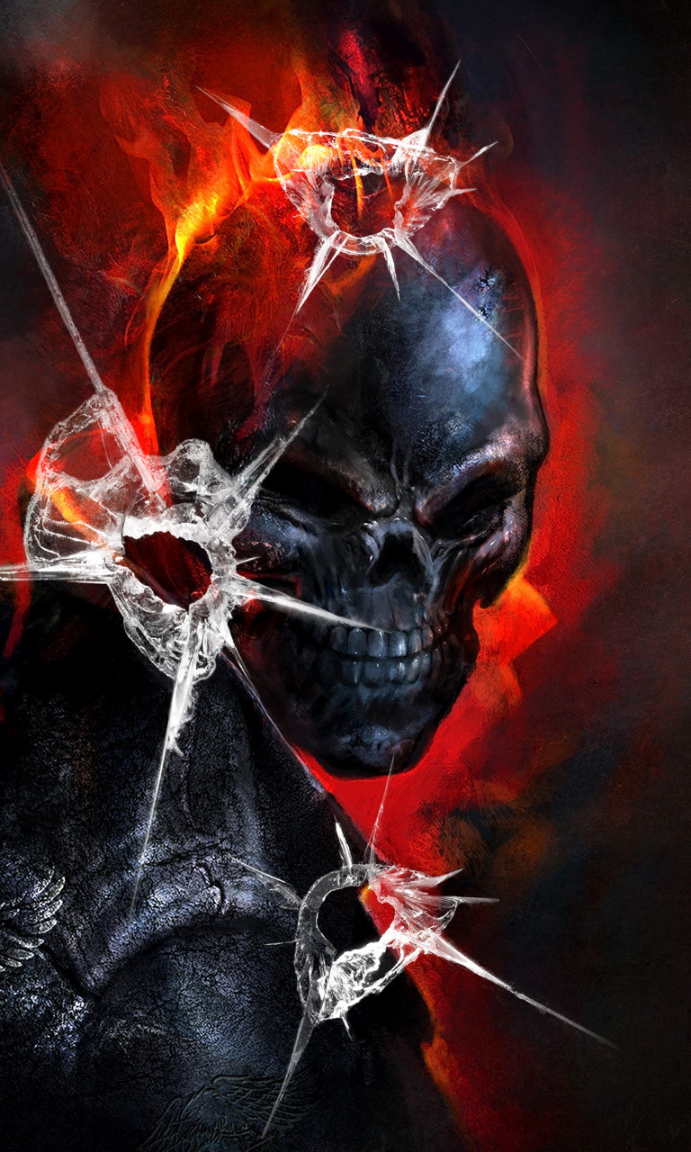 Free Ghost  Rider Bullet Holes.jpg phone wallpaper by twifranny