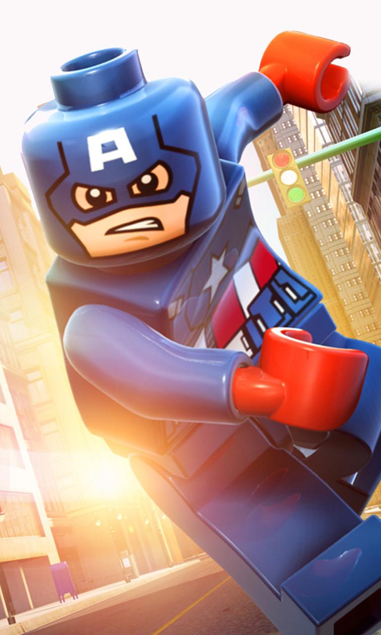 Free Lego Captain  America.jpg phone wallpaper by twifranny