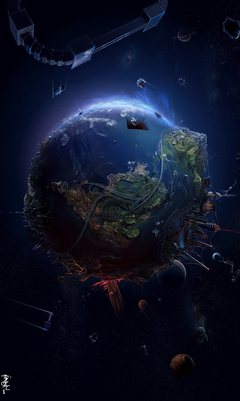 Free Earth Depicted.jpg phone wallpaper by twifranny