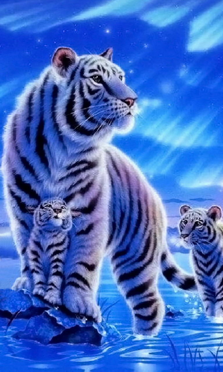 Free White Tigers.jpg phone wallpaper by twifranny