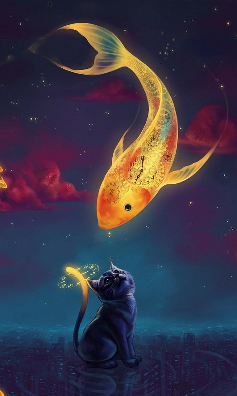 Free Cat Dream.jpg phone wallpaper by twifranny