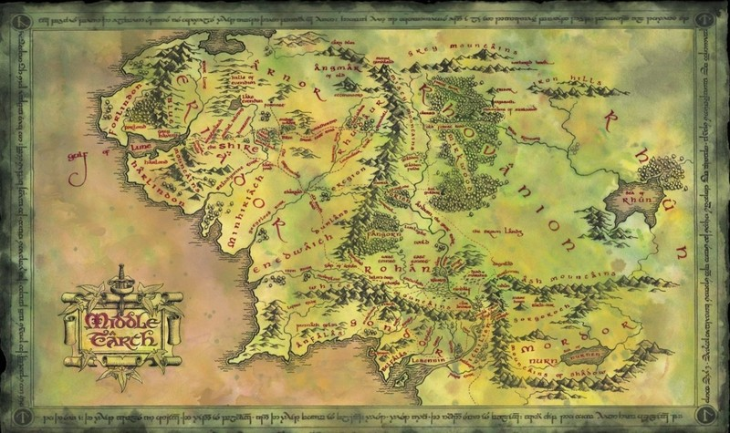 Free Map of Middle Earth.jpg phone wallpaper by mithrandir_82