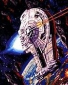 STAR WARS - OutRider In Asteroid Field