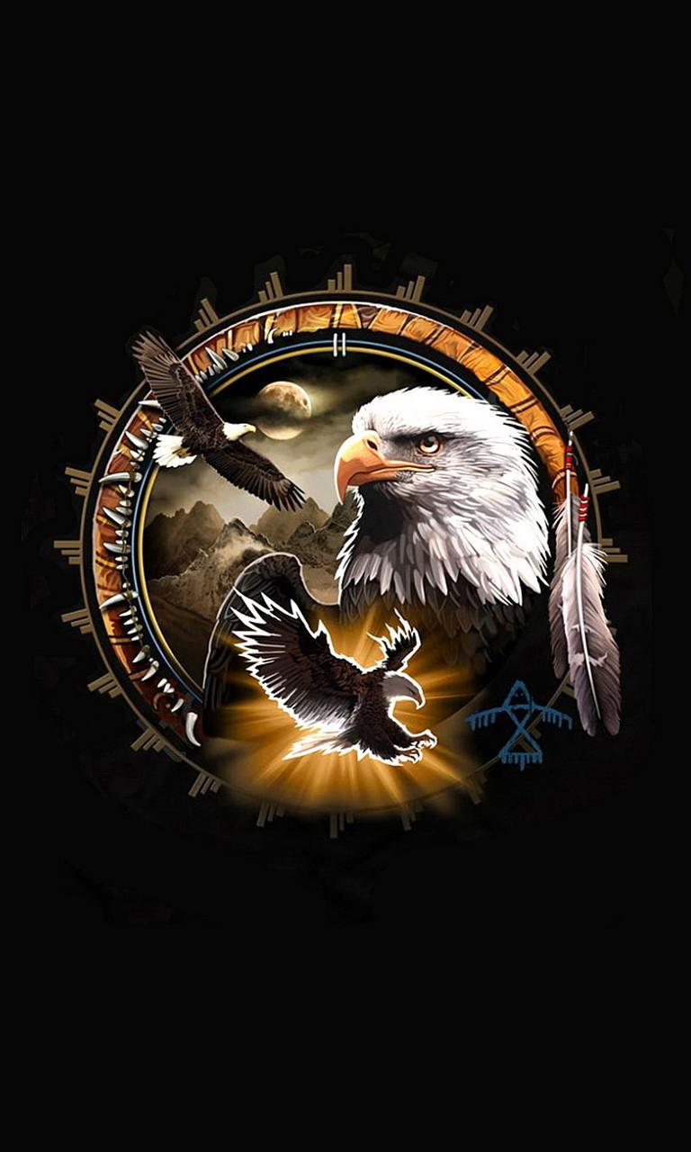 Free Eagle Dreamcatcher.jpg phone wallpaper by twifranny