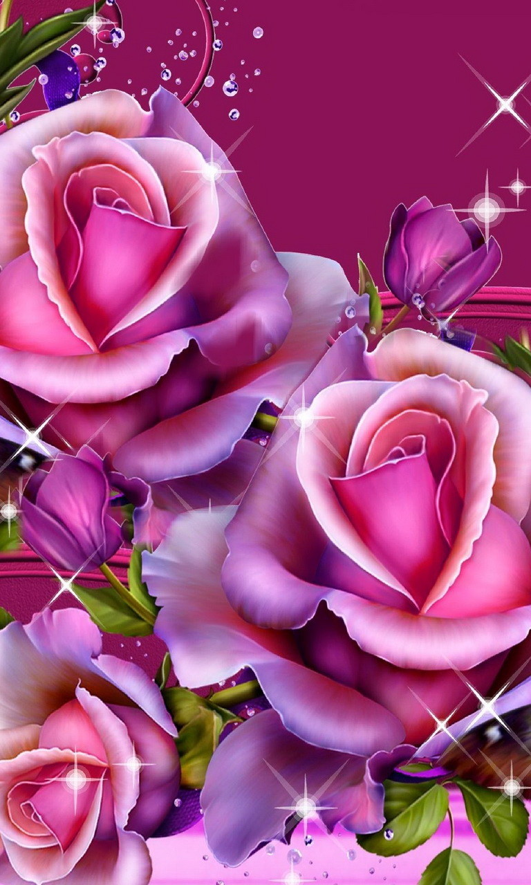Free Pink Roses.jpg phone wallpaper by twifranny