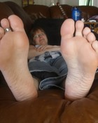 Sniff and Lick her white deliclous feet wallpaper 1