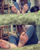 Soft marked girl feet