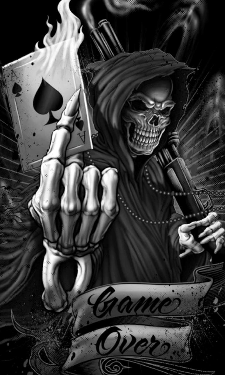 Free Game Over Skeleton.jpg phone wallpaper by twifranny