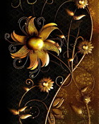Abstract Gold Flowers.jpg