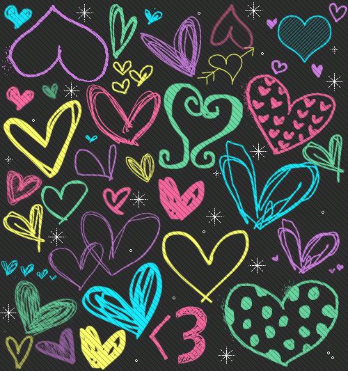 Free Heart Pattern Wallpaper phone wallpaper by kitty_baby