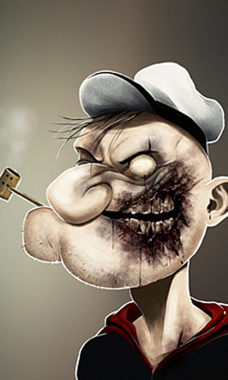 Free Zombie Popeye.jpg phone wallpaper by twifranny