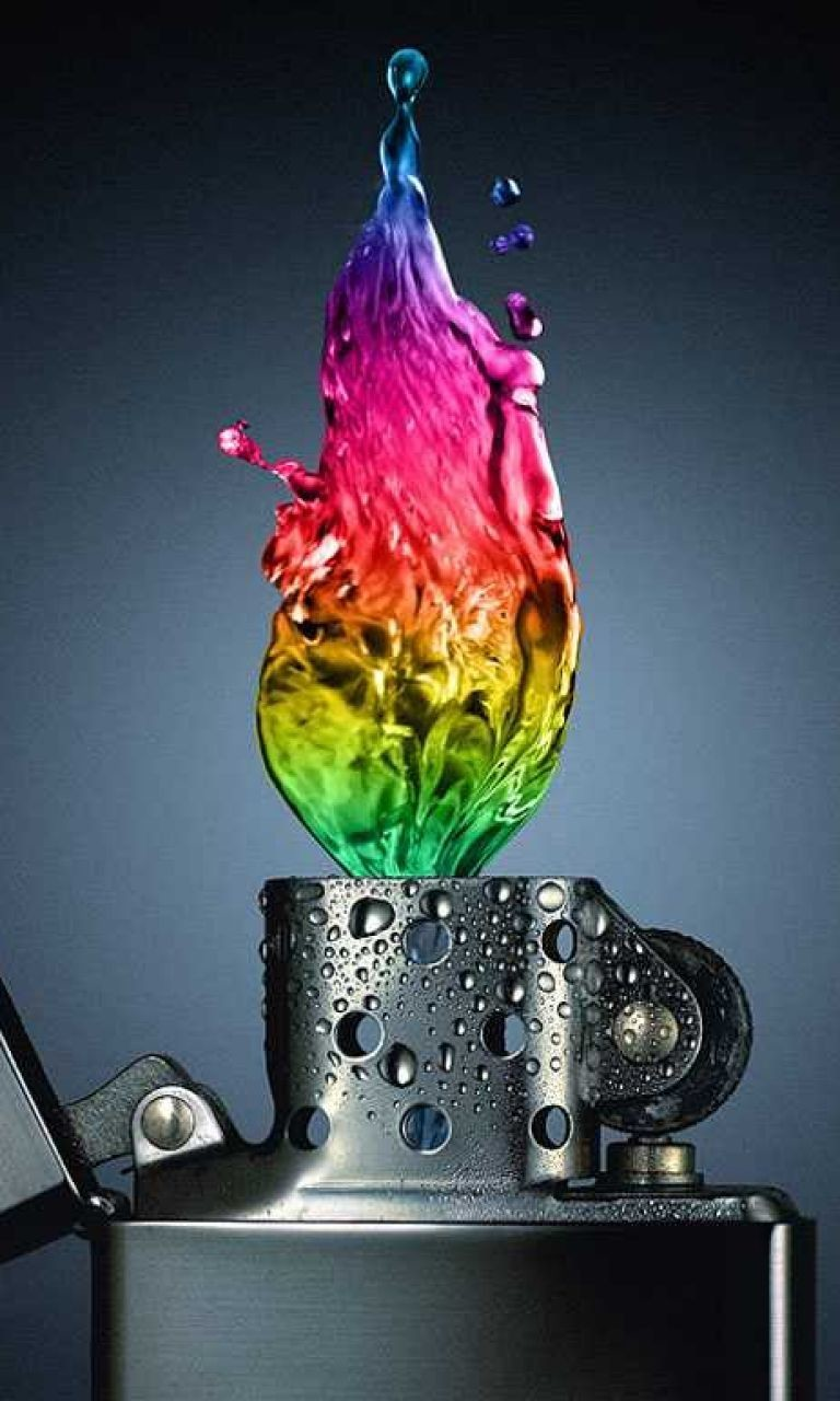 Free Zippo-colorful Flame.jpg phone wallpaper by twifranny