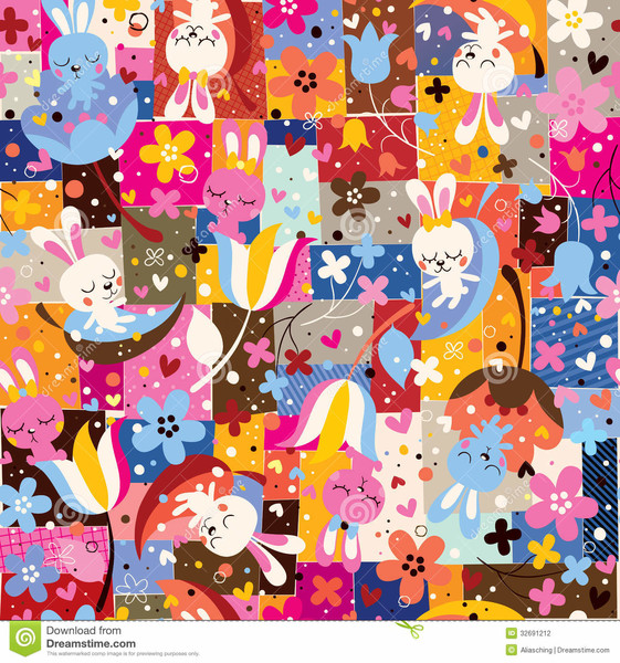 Free Cute Bunny Collage phone wallpaper by kitty_baby