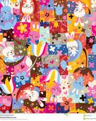 Cute Bunny Collage wallpaper 1