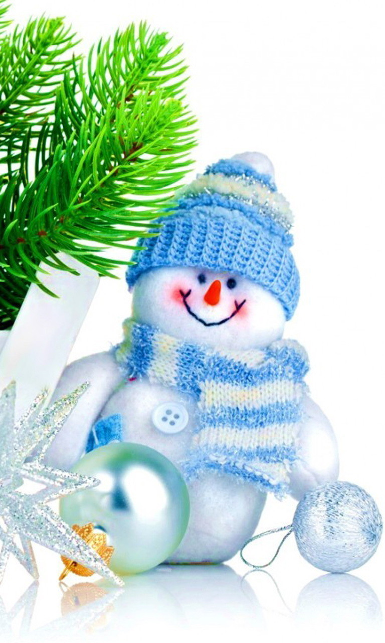 Free Light Blue Snowman.jpg phone wallpaper by twifranny