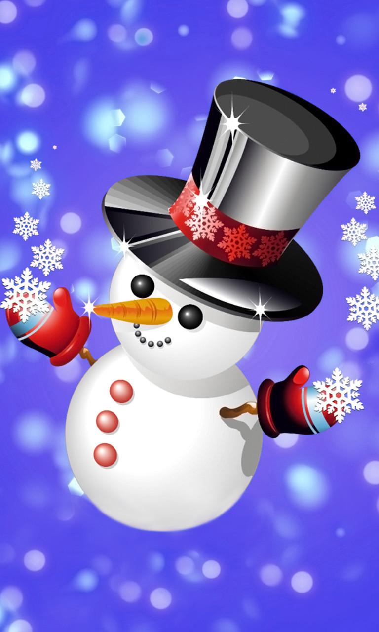 Free Top Hat Snowman.jpg phone wallpaper by twifranny