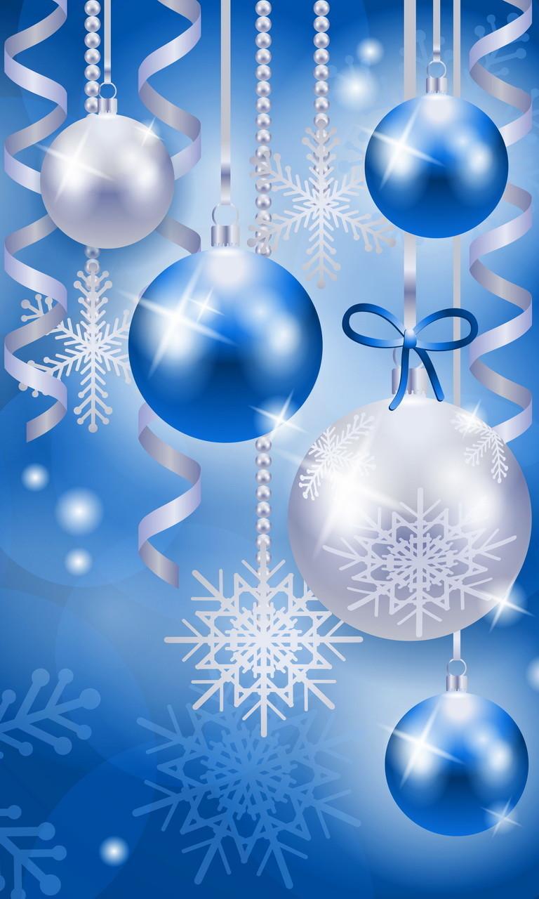 Free Christmas Balls light bluewhite.jpg phone wallpaper by twifranny
