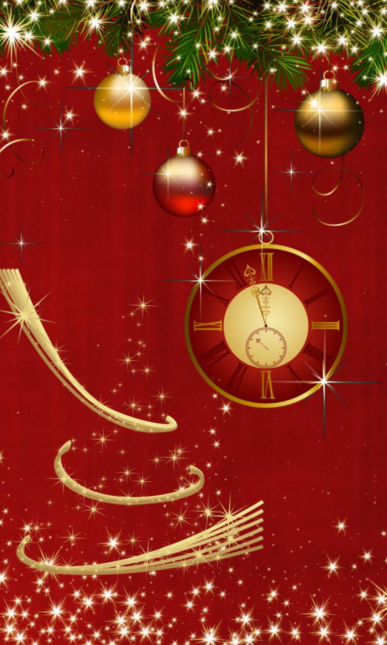 Free Christmas Clock.jpg phone wallpaper by twifranny