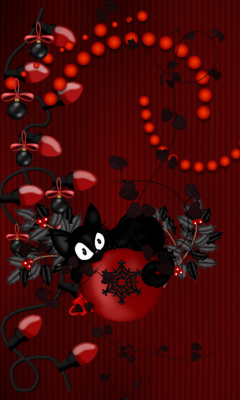 Free Christmas Kitty Again.jpg phone wallpaper by twifranny