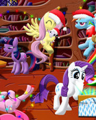 my little pony christmas wallpaper 1
