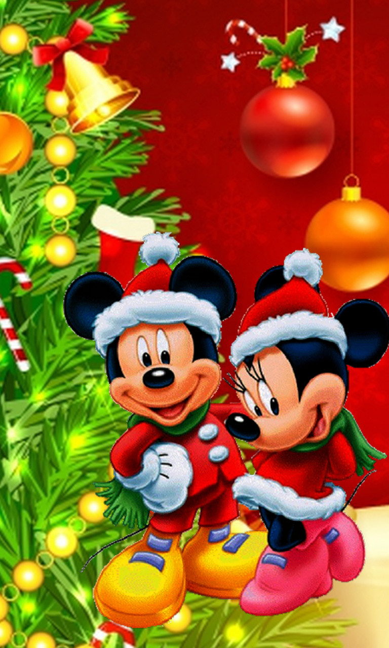 Free Mickey and Minnie Mouse Christmas.jpg phone wallpaper by twifranny