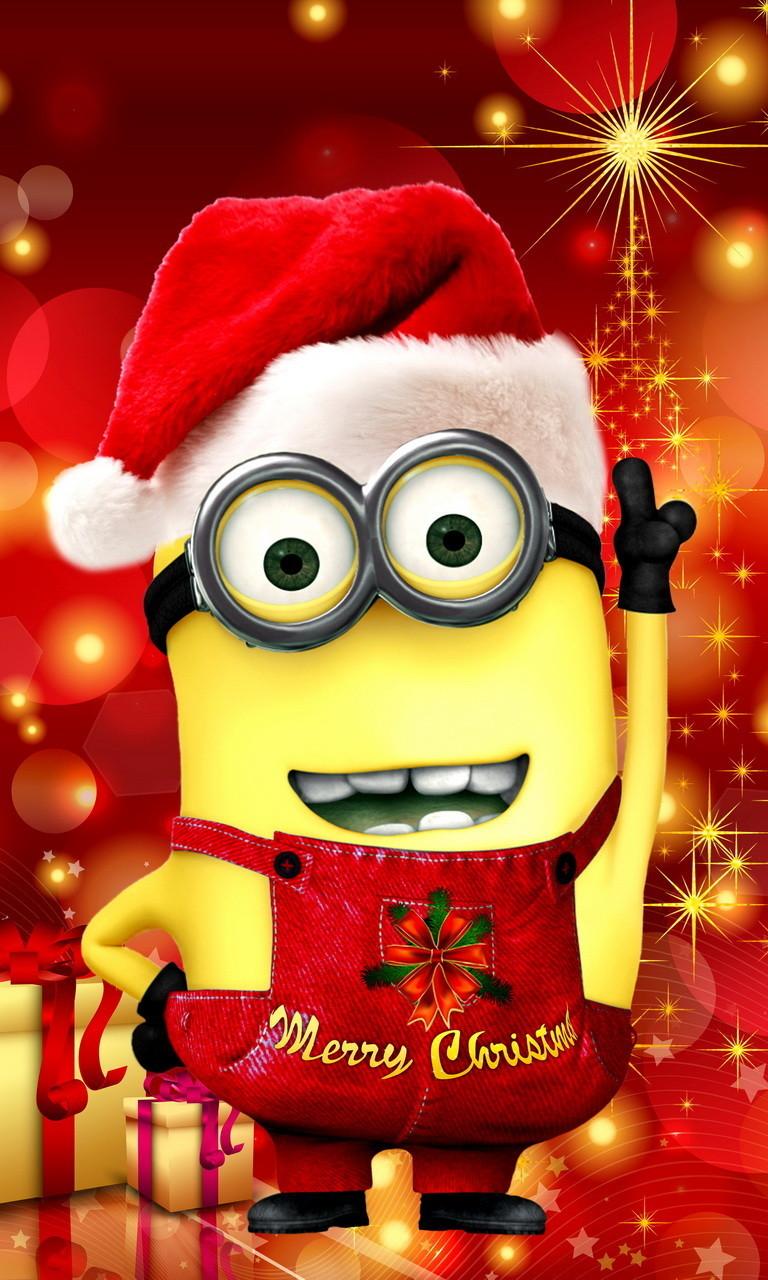 Free Christmas Minion 1.jpg phone wallpaper by twifranny