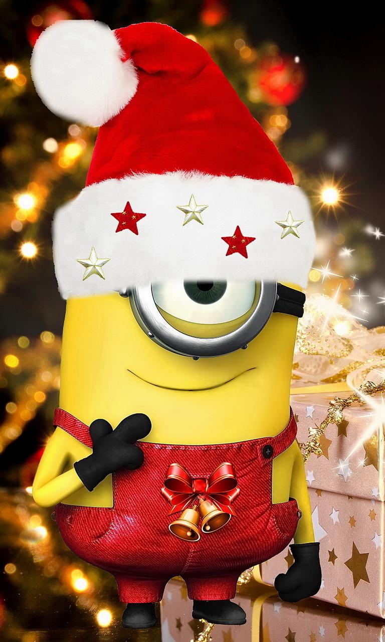 Free Christmas Minion 2.jpg phone wallpaper by twifranny