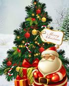 Merry Christmas tree and Santa.jpg wallpaper 1