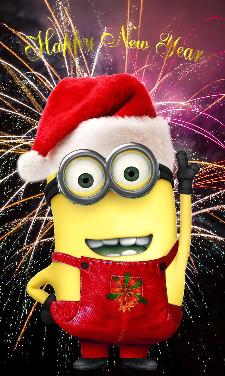 Free Happy New Year Minion.jpg phone wallpaper by twifranny