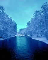 Cold Blue Winter River