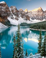 Winter, Moraine Lake, Alberta, Canada