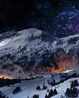 Night Sky Snow