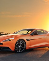 Orange Aston Martin Vanquish wallpaper 1
